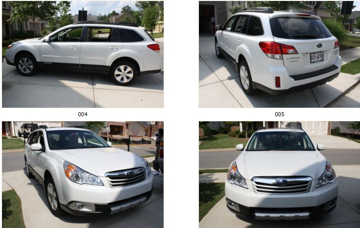 2012 subaru outback 3 6r limited 4d wagon diminished value car appraisal. Black Bedroom Furniture Sets. Home Design Ideas