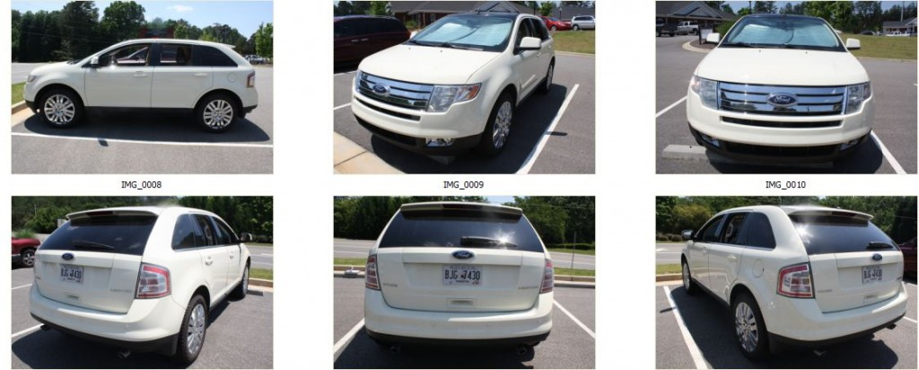 2008 Ford Edge Limited Diminished Value Car Appraisal