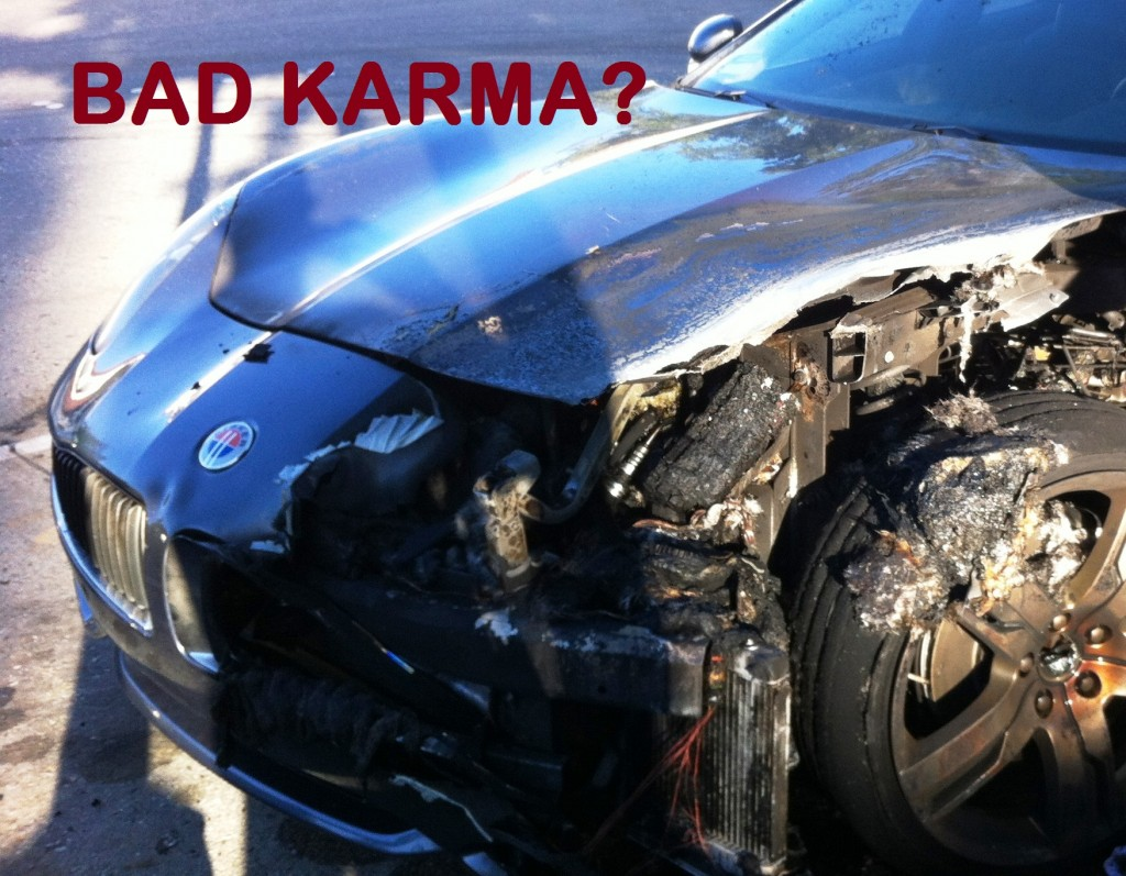 fisker karma catches on fier because of failed battery