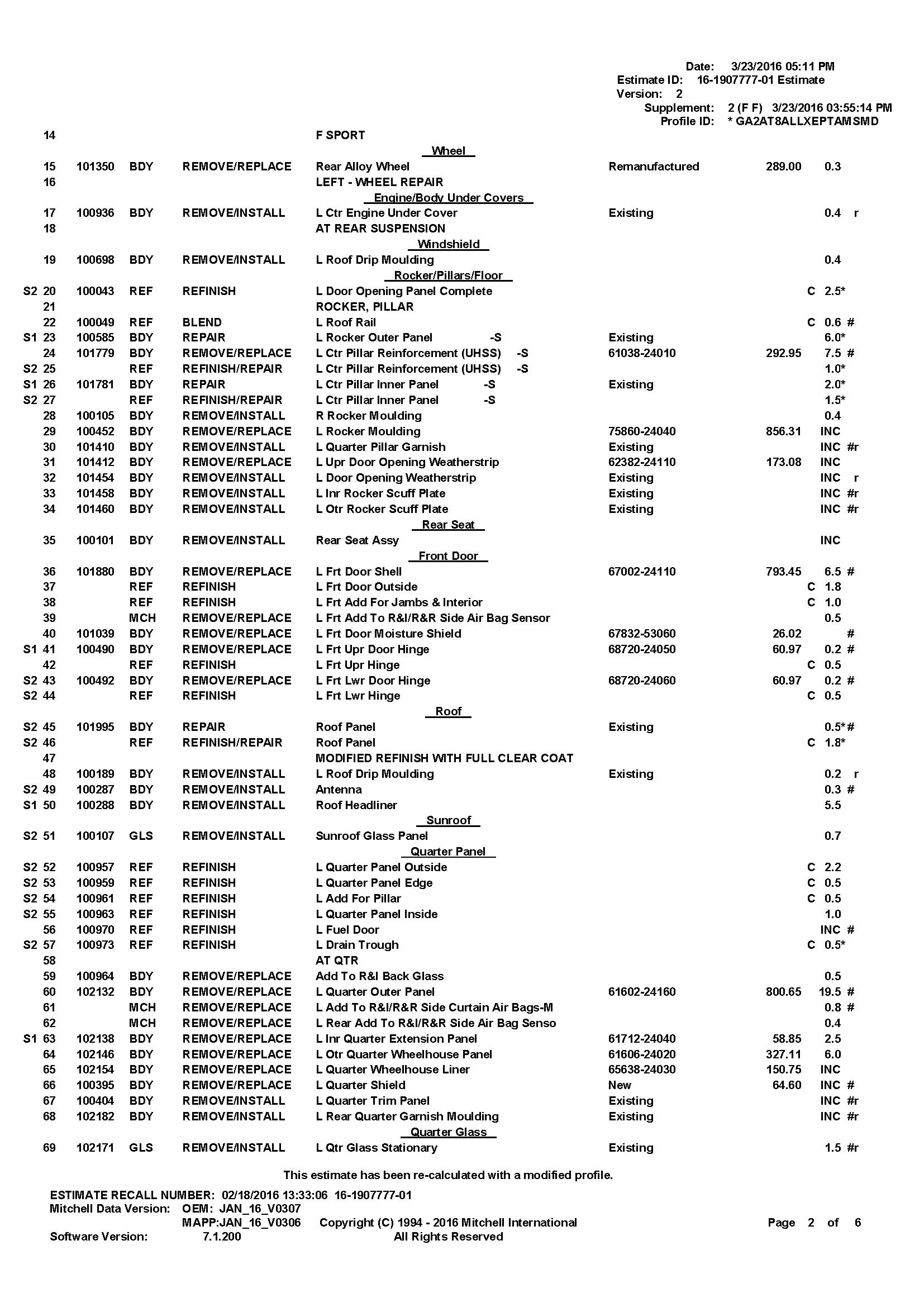 repair estimate upload