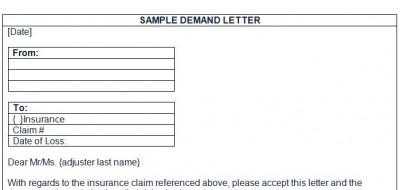 Sample Diminished Value Demand Letter