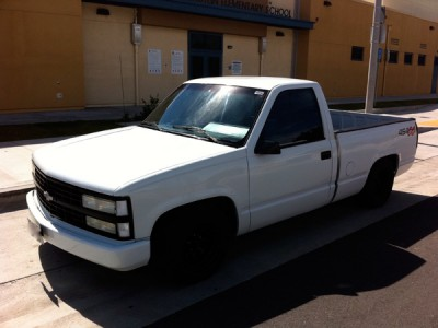 Chevy Ss X on 1991 Dodge Dakota Sport Truck White