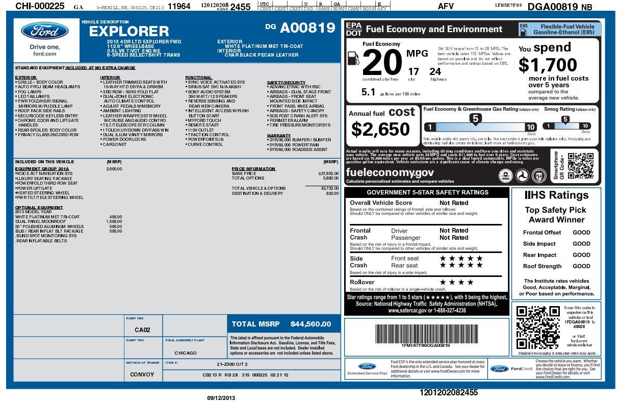 Dealer Invoice By Vin New Car Reviews By Javier M Rodriguez - Ford dealer invoice