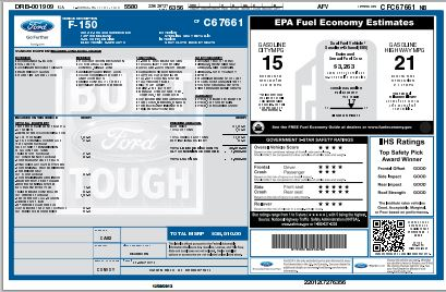 Ford Window Sticker >> Ford Window Sticker Lookup Diminished Value Car Appraisal