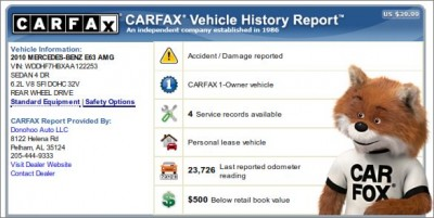 Carfax Report Lookup Diminished Value Car Appraisal