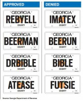 Georgia-Vanity-Licence-Plates