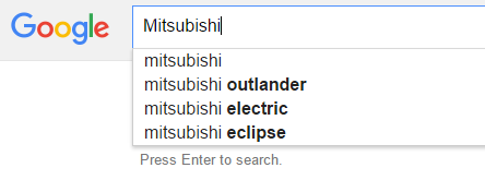 google-auto-search-trends-mitsubishi-2016