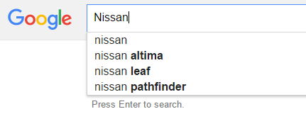 Google Auto Search Trends – Nissan – 2016 | Diminished ...