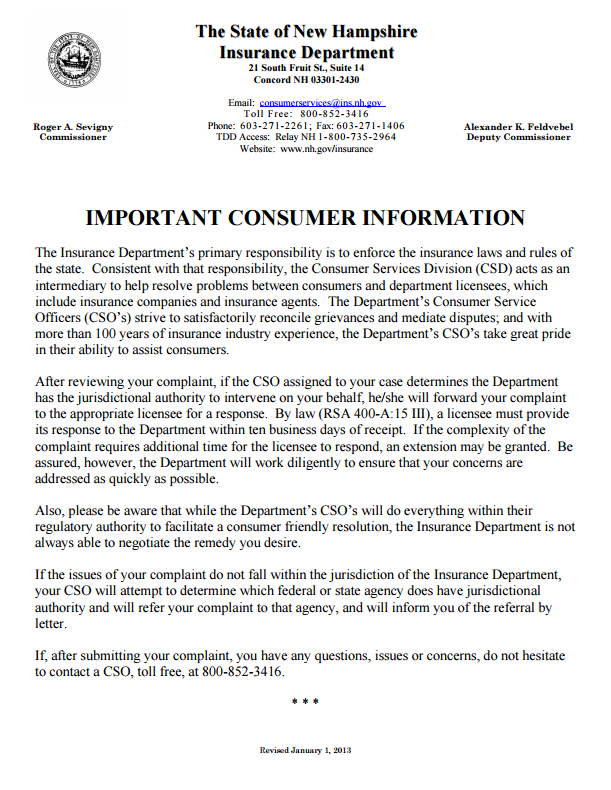 insurance-commissioner-complaints-by-state-new-hampshire-part1of3