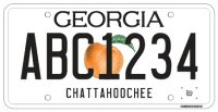 Georgia-Tag-License-Plate