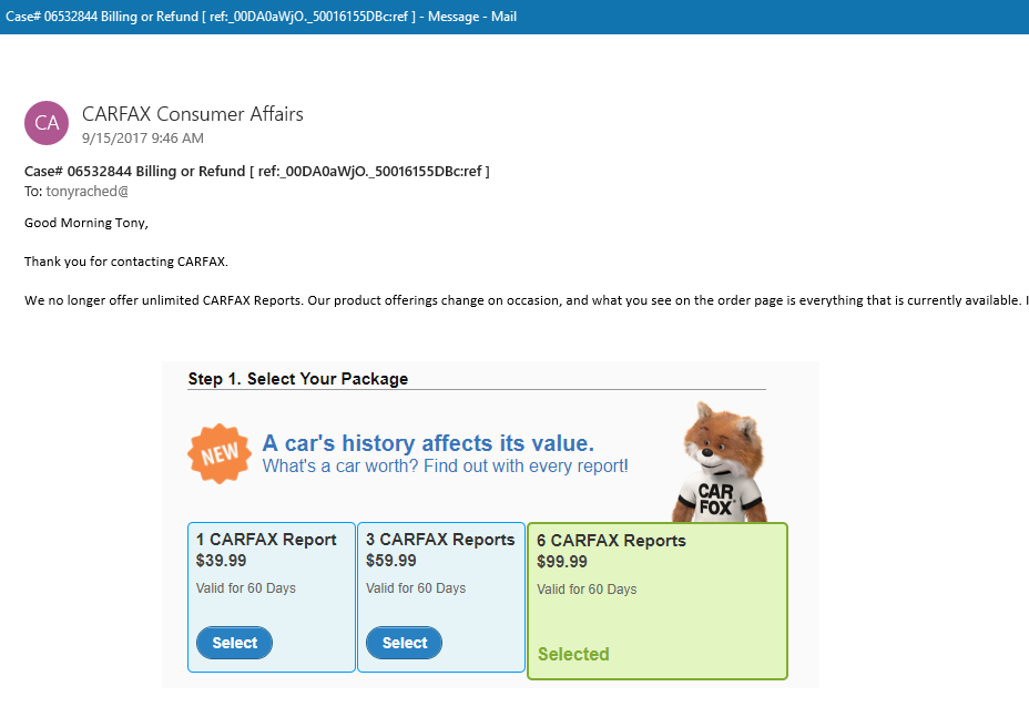 Carfax-No-Unlimited-Reports